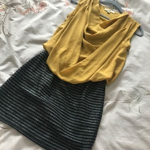 Chartreuse and Black Dress NWOT Size Small